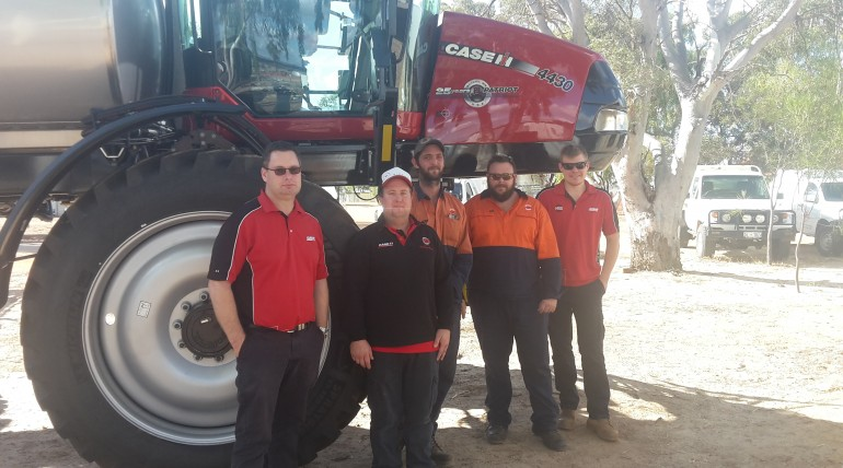 Case IH Patriot training at the WA College of Agriculture Cunderdin. Featured is the latest spraying technology from Case IH 4430 AIM Command Flex.