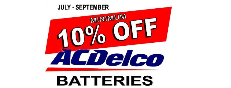 ACDelco Battery Sale at Hutton & Northey Sales