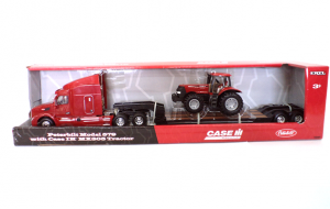 MX305 Tractor and Truck with LowBoy Trailer.Case IH Toys